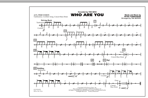 Who Are You - Aux Percussion (Marching Band)