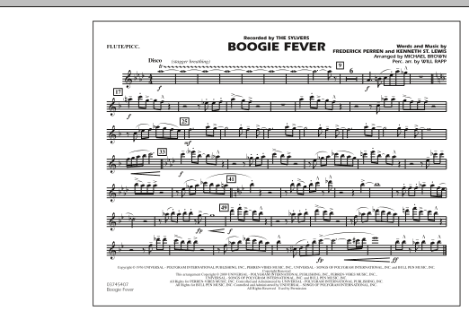 Boogie Fever - Flute/Piccolo (Marching Band)