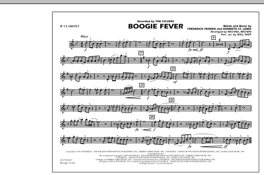 Boogie Fever - Bb Clarinet (Marching Band)