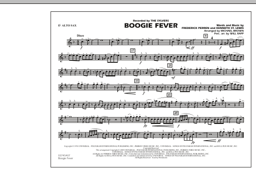 Boogie Fever - Eb Alto Sax (Marching Band)