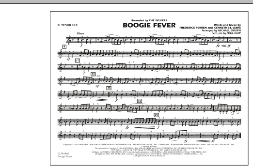 Boogie Fever - Bb Tenor Sax (Marching Band)