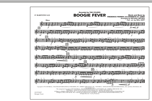 Boogie Fever - Eb Baritone Sax (Marching Band)