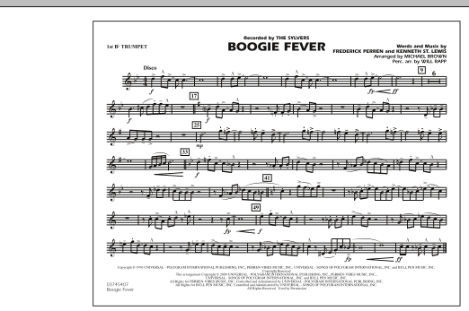 Boogie Fever - 1st Bb Trumpet (Marching Band)