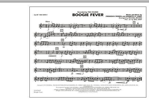 Boogie Fever - 2nd Bb Trumpet (Marching Band)