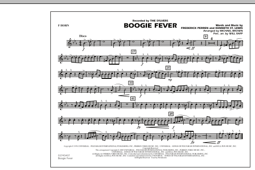Boogie Fever - F Horn (Marching Band)