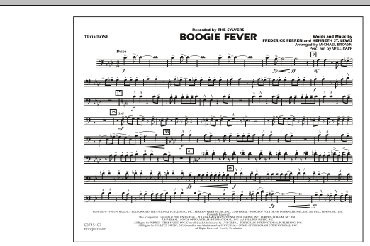Boogie Fever - Trombone (Marching Band)