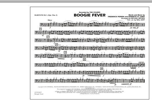 Boogie Fever - Baritone B.C. (Opt. Tbn. 2) (Marching Band)