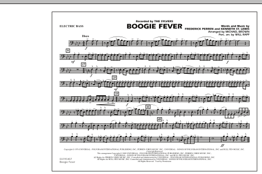 Boogie Fever - Electric Bass (Marching Band)