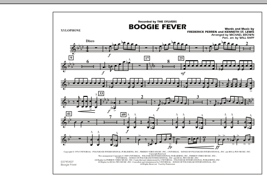 Boogie Fever - Xylophone (Marching Band)