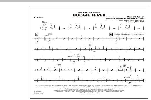 Boogie Fever - Cymbals (Marching Band)