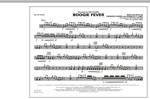 Boogie Fever - Quad Toms (Marching Band)