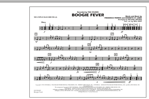 Boogie Fever - Multiple Bass Drums (Marching Band)