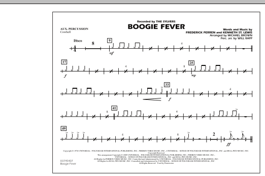 Boogie Fever - Aux Percussion (Marching Band)