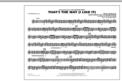 That's the Way (I Like It) - Eb Baritone Sax (Marching Band)