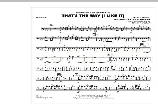 That's the Way (I Like It) - Trombone (Marching Band)