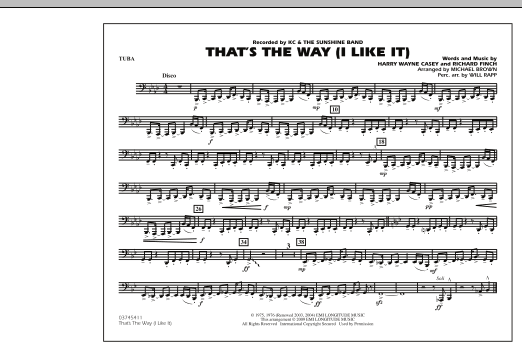 That's the Way (I Like It) - Tuba (Marching Band)