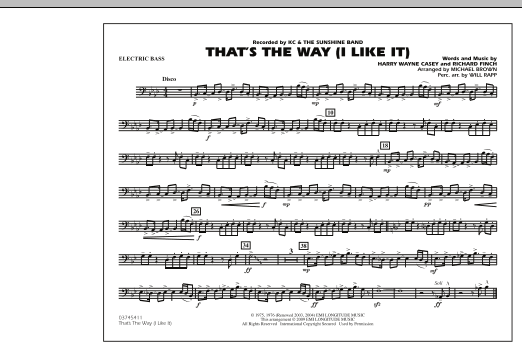 That's the Way (I Like It) - Electric Bass (Marching Band)