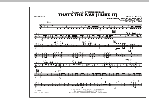 That's the Way (I Like It) - Xylophone (Marching Band)