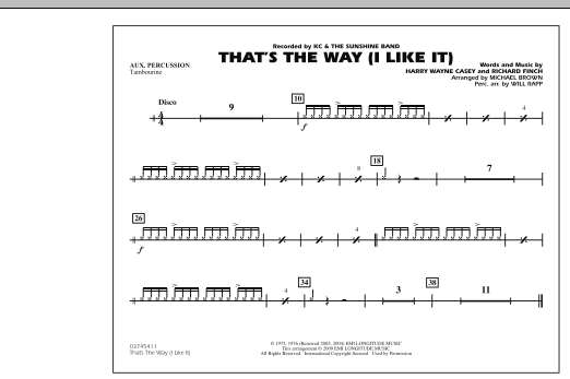 That's the Way (I Like It) - Aux Percussion (Marching Band)