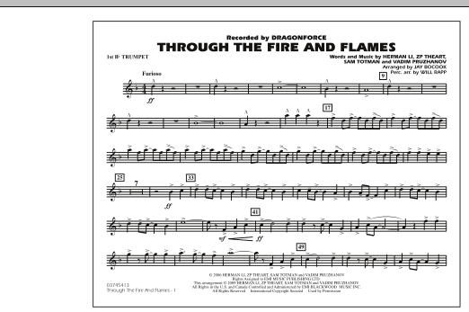 Through the Fire and Flames - 1st Bb Trumpet (Marching Band)