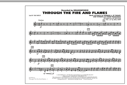 Through the Fire and Flames - 2nd Bb Trumpet (Marching Band)