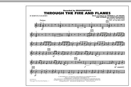 Through the Fire and Flames - Bb Horn/Flugelhorn (Marching Band)