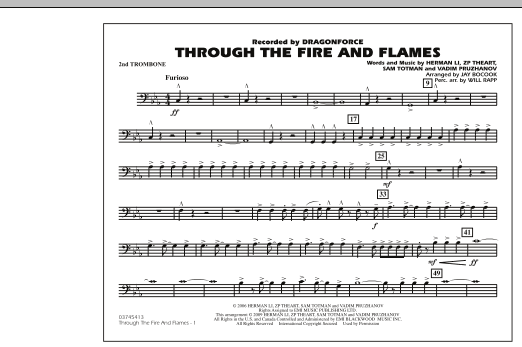 Through the Fire and Flames - 2nd Trombone (Marching Band)