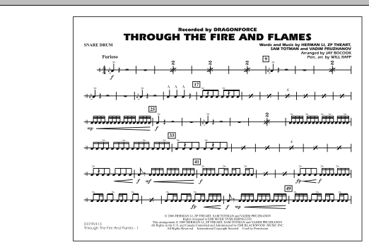 Through the Fire and Flames - Snare Drum (Marching Band)