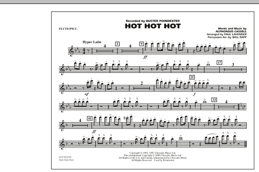 Hot Hot Hot - Flute/Piccolo (Marching Band)