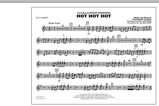 Hot Hot Hot - Bb Clarinet (Marching Band)