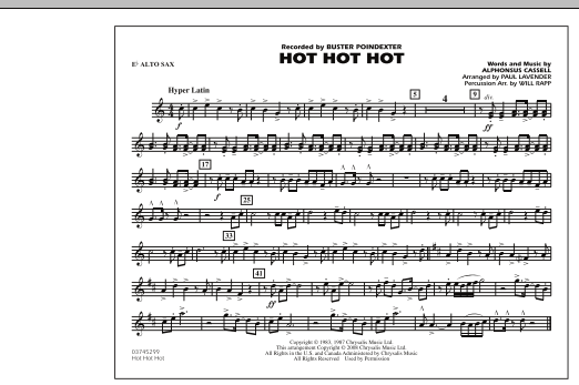 Hot Hot Hot - Eb Alto Sax (Marching Band)