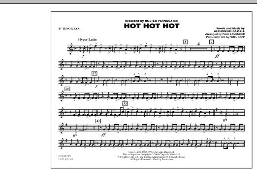 Hot Hot Hot - Bb Tenor Sax (Marching Band)