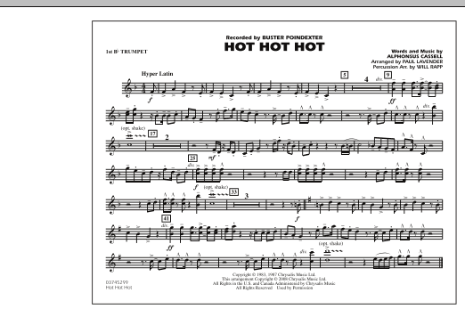 Hot Hot Hot - 1st Bb Trumpet (Marching Band)