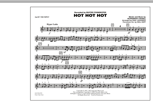 Hot Hot Hot - 2nd Bb Trumpet (Marching Band)