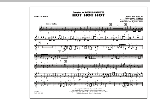 Hot Hot Hot - 3rd Bb Trumpet (Marching Band)