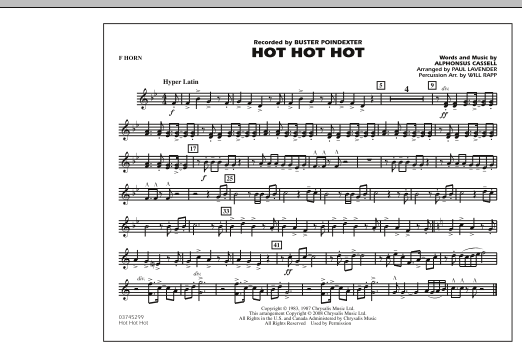 Hot Hot Hot - F Horn (Marching Band)
