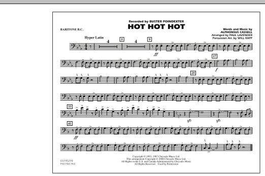 Hot Hot Hot - Baritone B.C. (Marching Band)