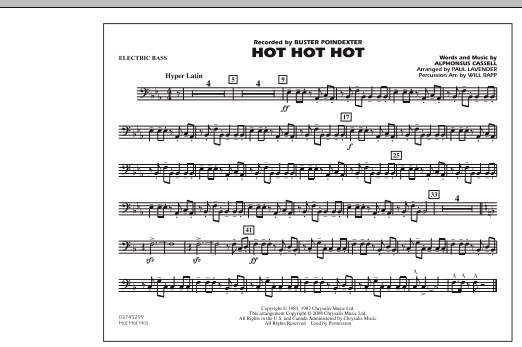 Hot Hot Hot - Electric Bass (Marching Band)