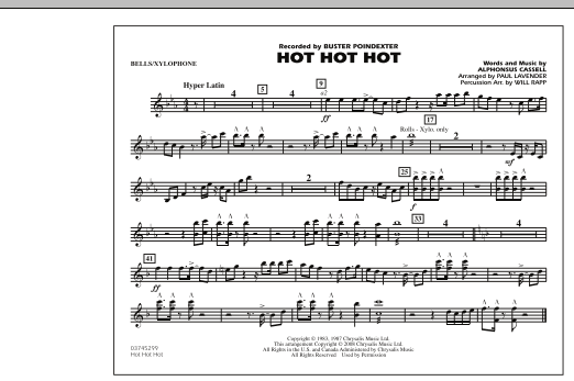 Hot Hot Hot - Bells/Xylophone (Marching Band)