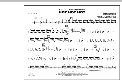 Hot Hot Hot - Snare Drum (Marching Band)