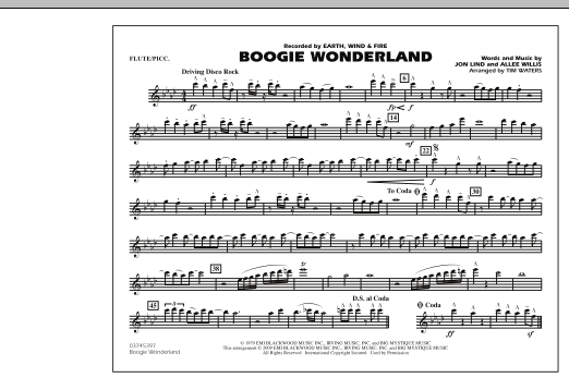 Boogie Wonderland - Flute/Piccolo (Marching Band)