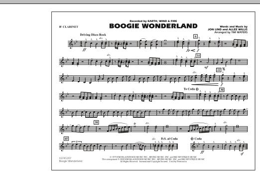 Boogie Wonderland - Bb Clarinet (Marching Band)