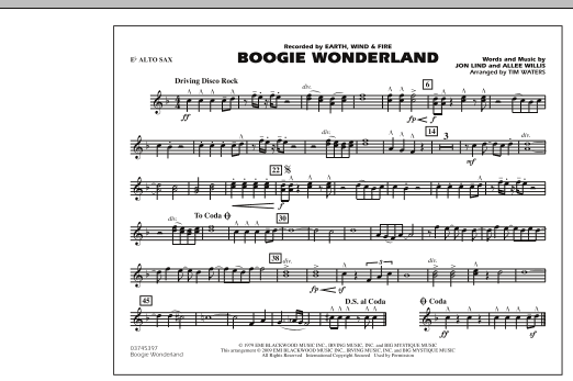 Boogie Wonderland - Eb Alto Sax (Marching Band)