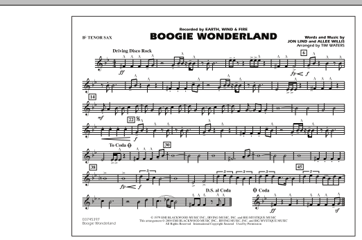 Boogie Wonderland - Bb Tenor Sax (Marching Band)