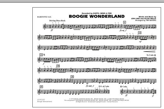 Boogie Wonderland - Eb Baritone Sax (Marching Band)