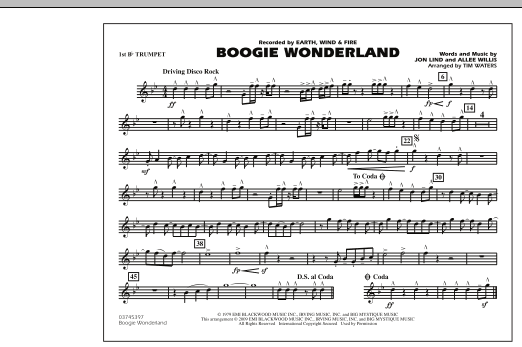 Boogie Wonderland - 1st Bb Trumpet (Marching Band)