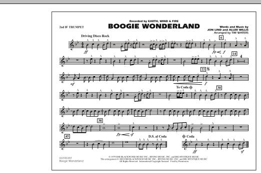 Boogie Wonderland - 2nd Bb Trumpet (Marching Band)