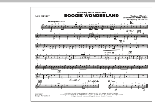 Boogie Wonderland - 3rd Bb Trumpet (Marching Band)