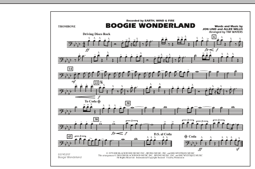 Boogie Wonderland - Trombone (Marching Band)