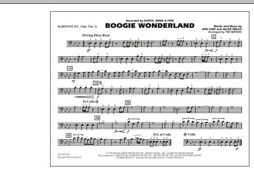 Boogie Wonderland - Baritone B.C. (Opt. Tbn. 2) (Marching Band)